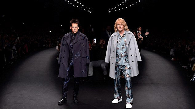 Zoolander appears at Valentino Fashion show in Paris