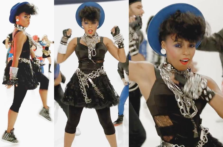 """Janelle Monae wears Murmur in the Pepsi Super Bowl commercial ad."""